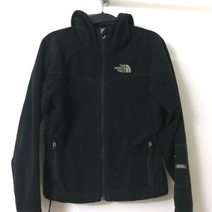 North Face Windwall Black Hooded Fleece Jacket